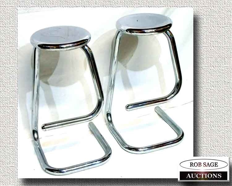 Vintage Chrome Stools