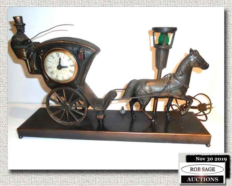 Cab & Horse Clock