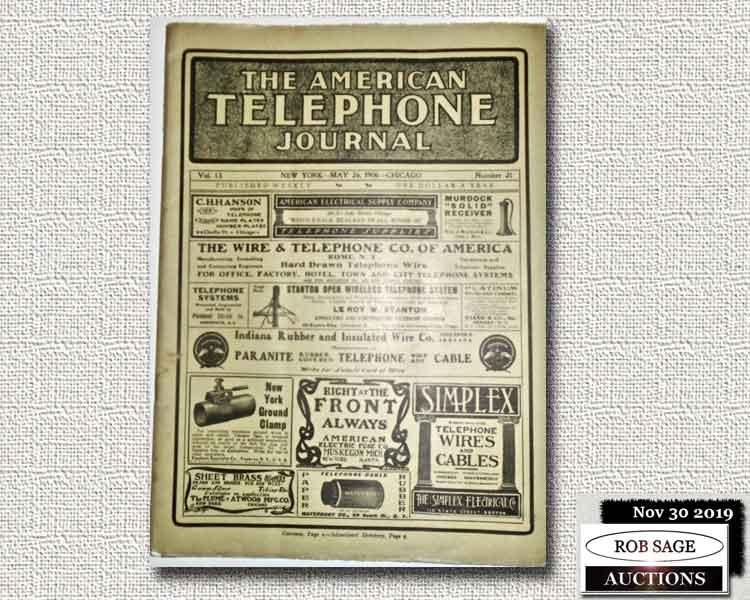 1906 Telephone Journal
