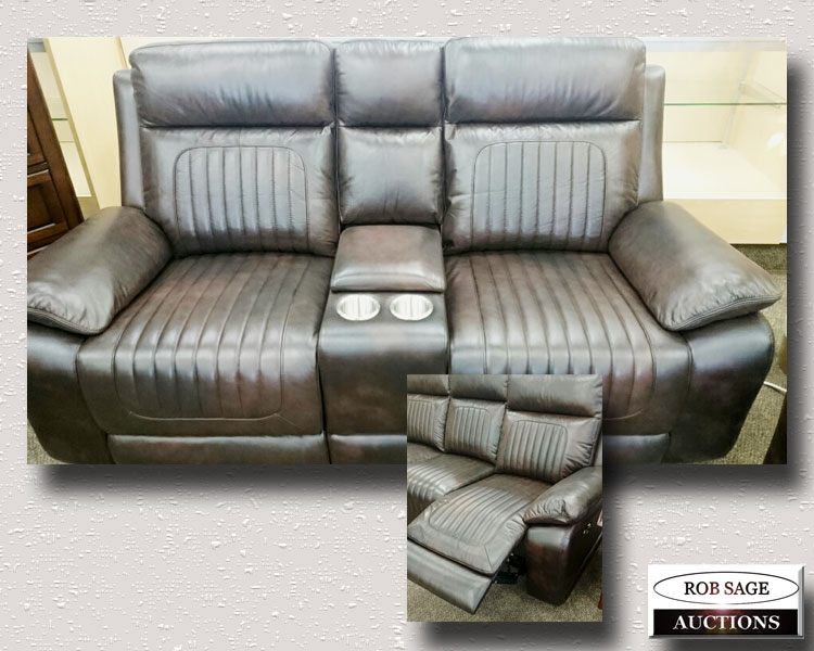 Leather Electric Loveseat