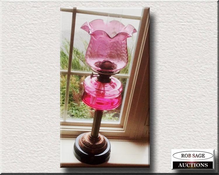 Cranberry Banquet Lamp