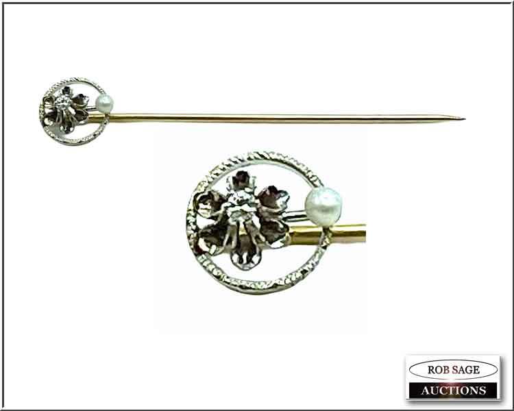 14 kt Gold Stick Pin