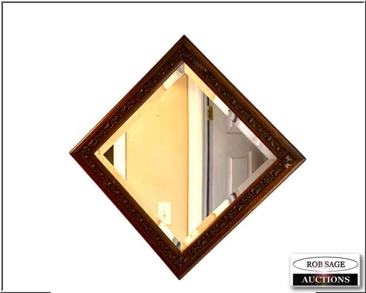 Oak Beveled Mirror
