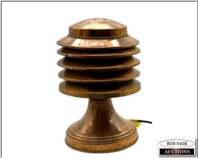 Copper Pagoda Lamp