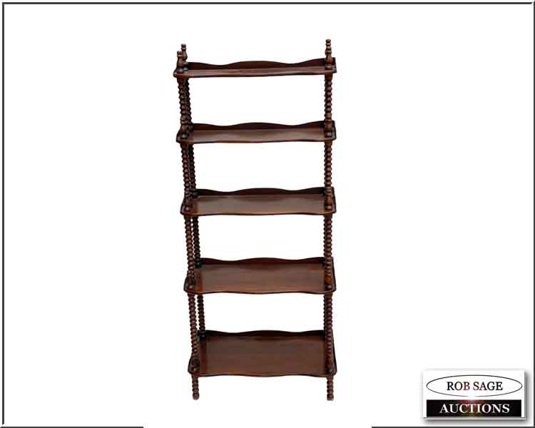 Victorian Walnut Curio Shelf