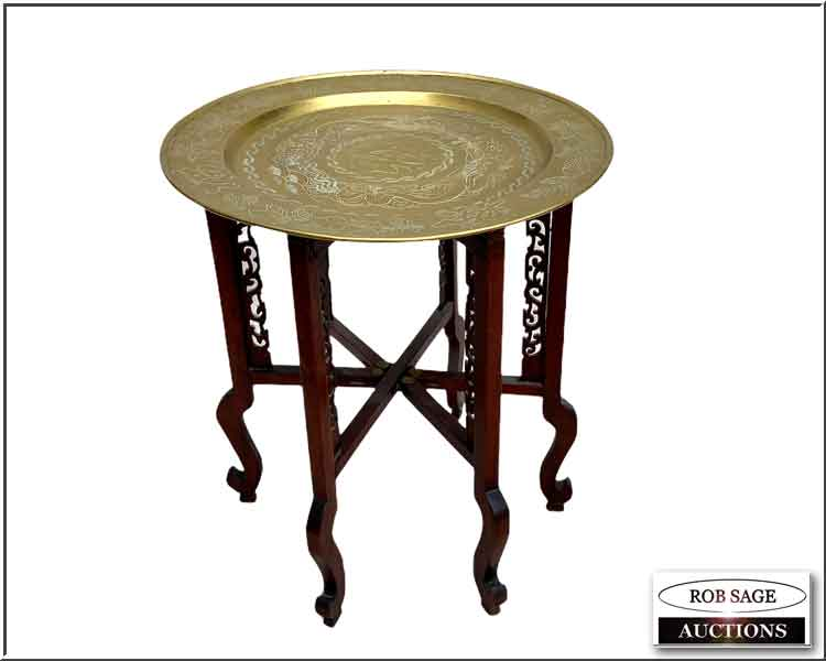 Chinese Brass Top Table